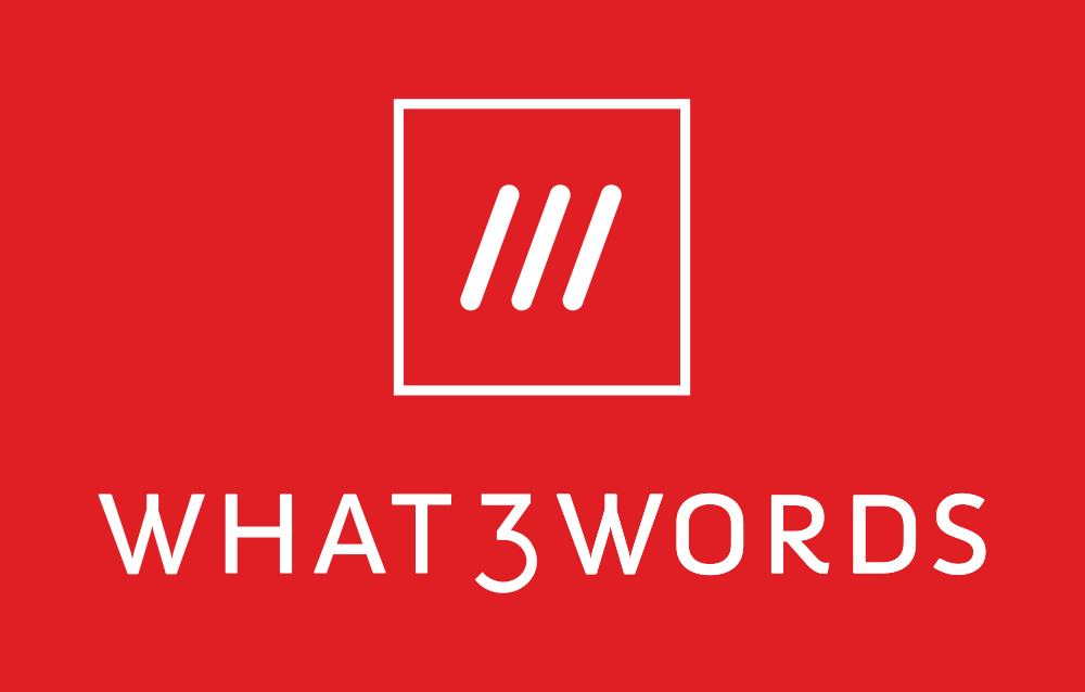 A picture of the What3Words app logo in red and white.